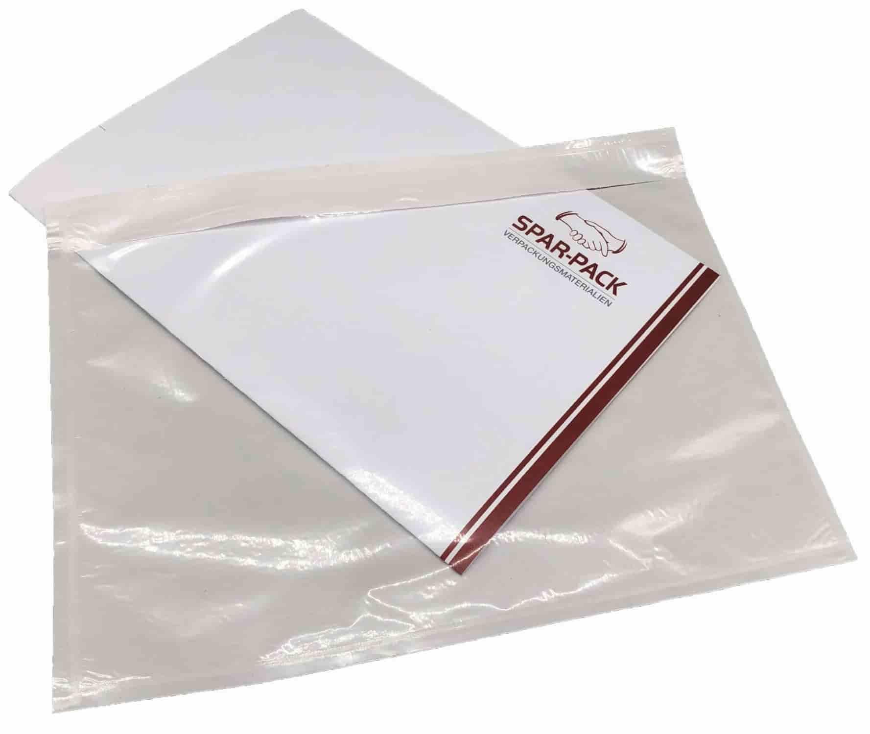 Plastiktasche mit Dokument